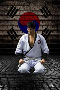 Master Yun kneeling